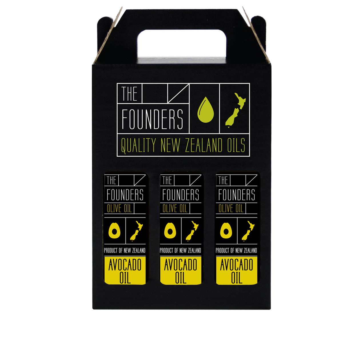 The-Founders-Olive-Oil-Giftpack-3x250ml-1200×1200-Avocado